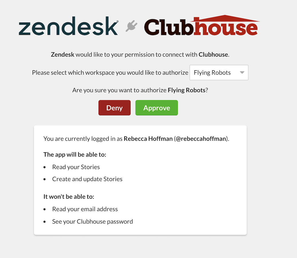19-2_Clubhouse_Zendesk_Integration_Authorization.png