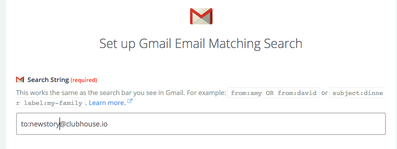 Example Zapier Trigger with Gmail