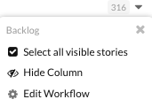 Workflow Columns in Clubhouse